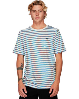 SILVER BLEAC MENS CLOTHING RVCA TEES - RV-R192061-SVA