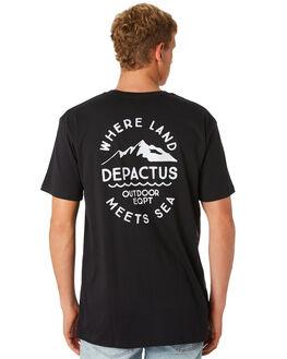 BLACK MENS CLOTHING DEPACTUS TEES - D5201013BLACK