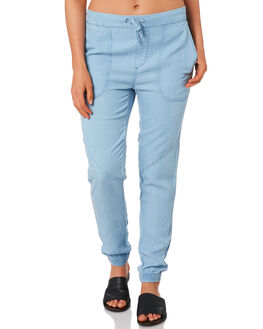 POWDERY BLUE WOMENS CLOTHING RUSTY PANTS - PAL1109PYB