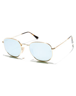 GOLD BLUE UNISEX ADULTS RAY-BAN SUNGLASSES - 0RB3548N00130