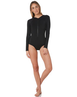 BLACK WOMENS SWIMWEAR SEA LEVEL AUSTRALIA ONE PIECES - SL1112PBLK