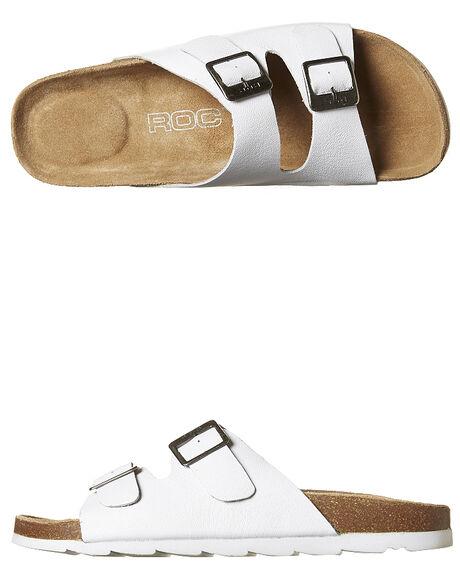 WHITE WOMENS FOOTWEAR ROC BOOTS AUSTRALIA FASHION SANDALS - ROCBERMUDAWHI