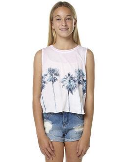 WHITE KIDS GIRLS BILLABONG SINGLETS - 5562185AWHT