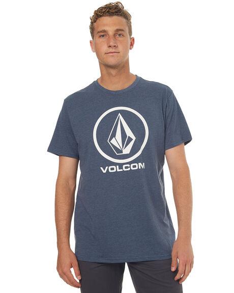 SMOKE BLACK MENS CLOTHING VOLCOM TEES - A57117G1SMB