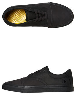 BLACK BLACK MENS FOOTWEAR EMERICA SKATE SHOES - 6102000127004