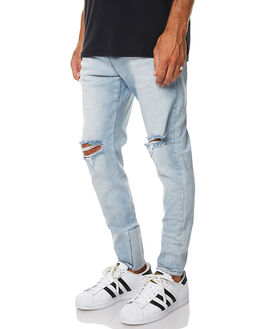 BUSTED BLUE THRASH MENS CLOTHING ZANEROBE JEANS - 717-CARBBBLU