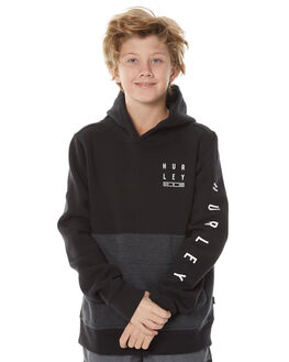 BLACK KIDS BOYS HURLEY JUMPERS - ABFLTDL00A