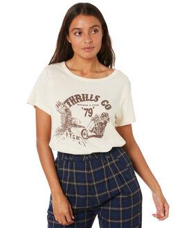 THRIFT WHITE WOMENS CLOTHING THRILLS TEES - WTW20-111ATHWHT