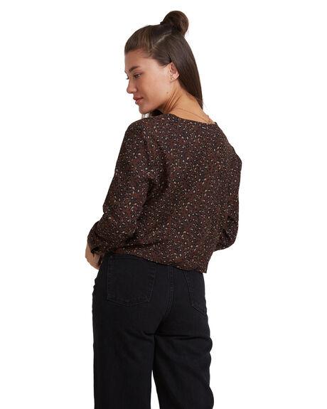 BOMBAY BROWN WOMENS CLOTHING RVCA FASHION TOPS - RV-R217185-BYR