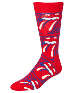 RED MENS CLOTHING HAPPY SOCKS SOCKS + UNDERWEAR - RLS01-4300RED