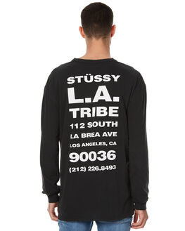 BLACK MENS CLOTHING STUSSY TEES - ST076015BLK