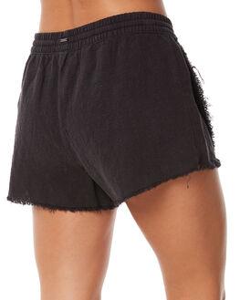 BLACK WOMENS CLOTHING RUSTY SHORTS - WKL0629BLK