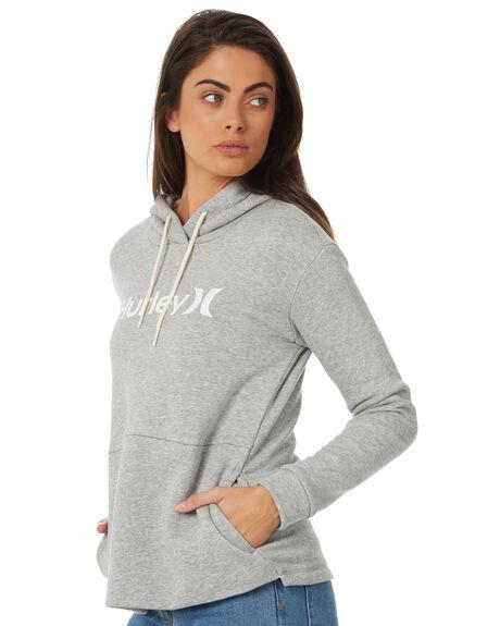 DARK GREY HEATHER WOMENS CLOTHING HURLEY JUMPERS - AJ3609063