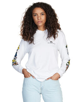 WHITE WOMENS CLOTHING QUIKSILVER TEES - EQWKT03012-WBB0