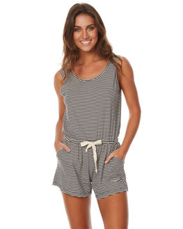 TILLY BLACK STRIPE WOMENS CLOTHING THE BARE ROAD PLAYSUITS + OVERALLS - 6-9-1407-3-11BSTR