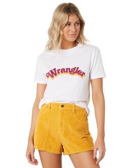 WHITE WOMENS CLOTHING WRANGLER TEES - W-951633-060