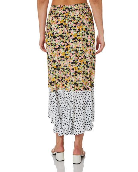 MONET FLORAL POLKA WOMENS CLOTHING RUE STIIC SKIRTS - SA-20-33-1MLPIM