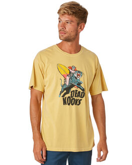 GOLD MENS CLOTHING DEAD KOOKS TEES - DKSSTEE20GLD