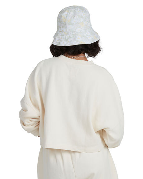 CREAM WOMENS CLOTHING BILLABONG HOODIES + SWEATS - BB-6517976-CRM