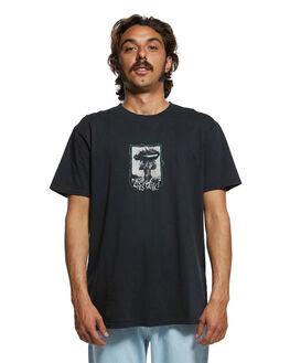 BLACK MENS CLOTHING QUIKSILVER TEES - EQYZT05467-KVJ0