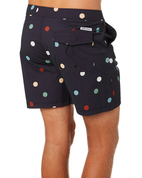 DIRTY BLACK OUTLET MENS BANKS BOARDSHORTS - BS0206DBL
