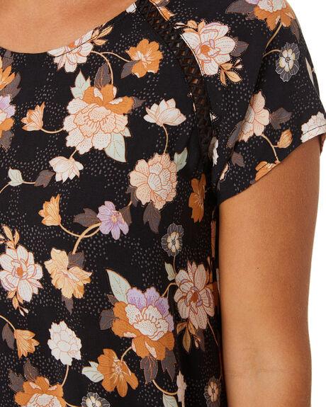 WASHED BLACK WOMENS CLOTHING RIP CURL DRESSES - GDRFM98264