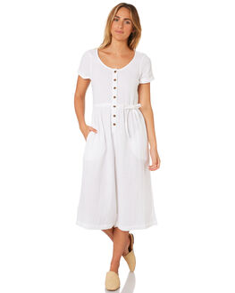 WHITE WOMENS CLOTHING BILLABONG PLAYSUITS + OVERALLS - 6582531WHT