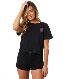 ACID BLACK WOMENS CLOTHING SANTA CRUZ TEES - SC-WTC8663ABLK