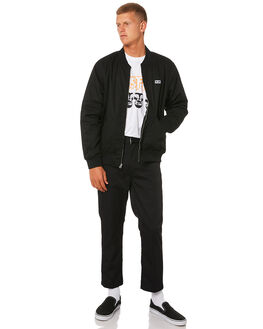 BLACK MENS CLOTHING OBEY JACKETS - 121372055BLK
