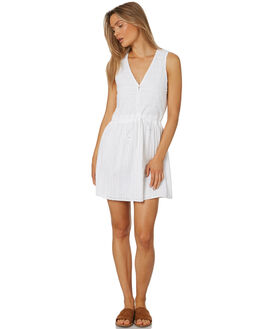WHITE WOMENS CLOTHING RUSTY DRESSES - DRL0943WHT