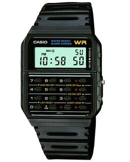 BLACK MENS ACCESSORIES CASIO WATCHES - CA53W-1BLK