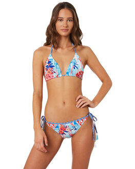 MULTI WOMENS SWIMWEAR PIHA BIKINI TOPS - P1391TXMUL