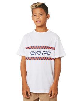 WHITE KIDS BOYS SANTA CRUZ TOPS - SC-YTC9228WHT