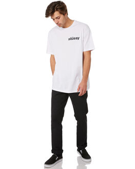 WHITE MENS CLOTHING STUSSY TEES - ST092000WHITE