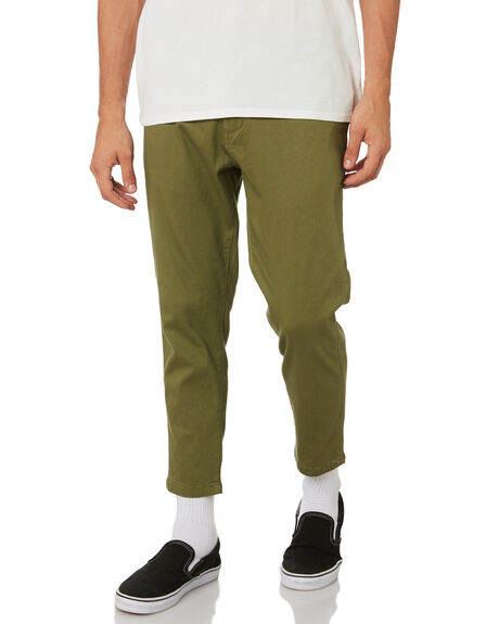 OLIVE GREEN MENS CLOTHING BANKS PANTS - PT0057OLVG