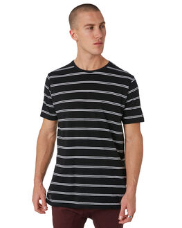 BLACK WHITE MENS CLOTHING ZANEROBE TEES - 103-METBLKW