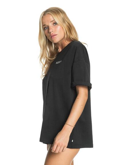 ANTHRACITE WOMENS CLOTHING ROXY TEES - ERJZT05159-KVJ0