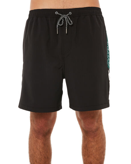 BLACK MENS CLOTHING RUSTY BOARDSHORTS - BSM1217BLK