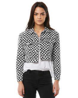 BLACK WHITE WOMENS CLOTHING INSIGHT JACKETS - 5000001015BLKW