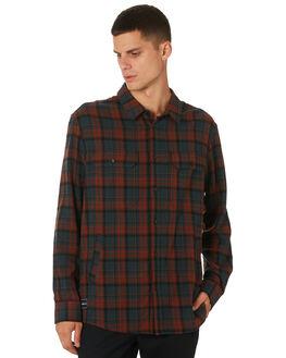 GREEN RED PLAID MENS CLOTHING RPM SHIRTS - 9AMT10BGRNRD