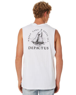 WHITE MENS CLOTHING DEPACTUS SINGLETS - D5202273WHITE