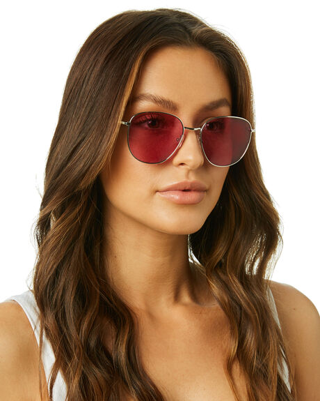 POLISHED SILVER WOMENS ACCESSORIES LOCAL SUPPLY SUNGLASSES - BAYSRP21PSIL