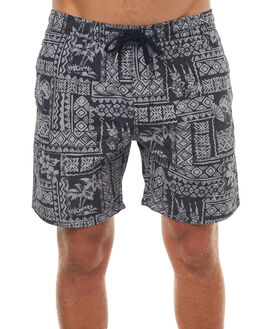 BLACK MENS CLOTHING SWELL BOARDSHORTS - S5171236BLK