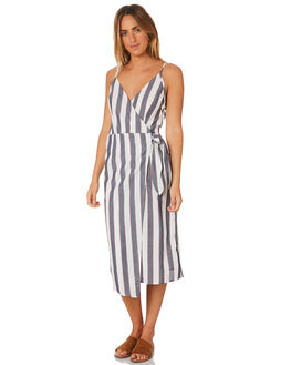 NAVY WITH IVORY WOMENS CLOTHING THE FIFTH LABEL DRESSES - 40181144-4NVY