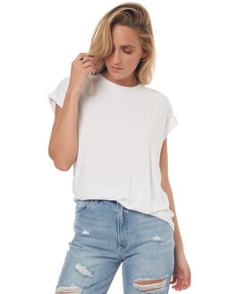 WHITE WOMENS CLOTHING RUSTY TEES - TTL0898WHT