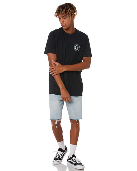 BLACK MENS CLOTHING VOLCOM TEES - A5032006BLK