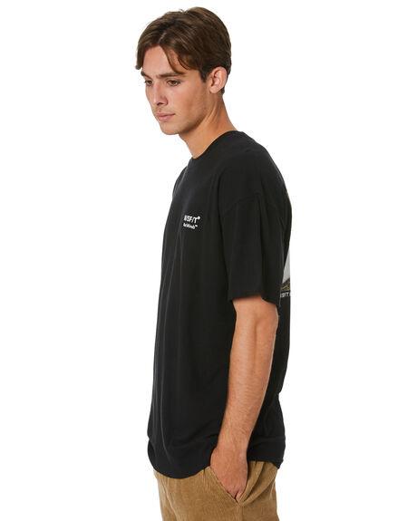 WASHED BLACK MENS CLOTHING MISFIT TEES - MT002013WBK