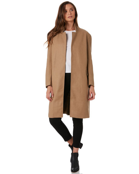 TAN WOMENS CLOTHING THRILLS JACKETS - WTW9-214CTAN