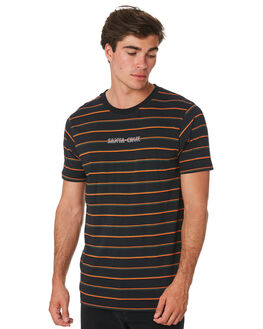 BLACK STRIPE MENS CLOTHING SANTA CRUZ TEES - SC-MTC9260BLKST