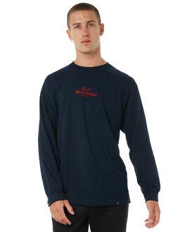 NAVY MENS CLOTHING HUF TEES - TS00222NVY